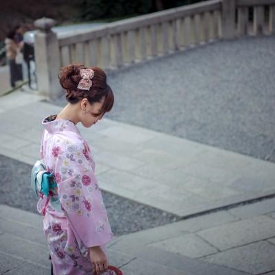 pink kimono